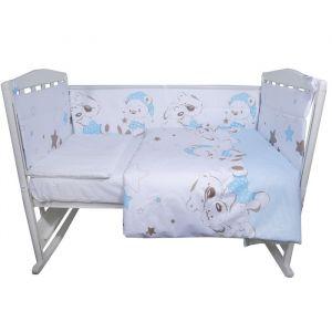 Комплект в кроватку «Умка», 4 предмета, цвет голубой, сатин
