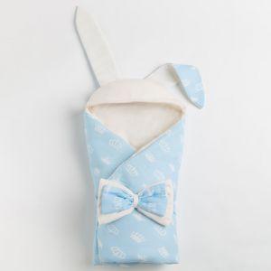 Конверт для новорожденного, цвет голубой