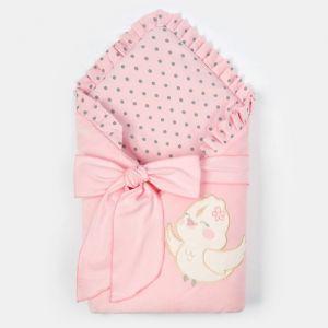 """Конверт-одеяло Крошка Я """"Птичка"""", розовый, 50-62см   4662214"""