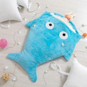 """Одеяло (конверт) для детей Крошка Я  """"Акула"""" цв.голубой, 48*83 см, чехол п/э, подклад хл.   4357241"""