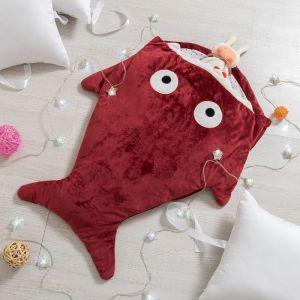 """Одеяло (конверт) для детей Крошка Я  """"Акула"""" цв.красный, 48*83 см, чехол п/э, подклад хл.   4357239"""
