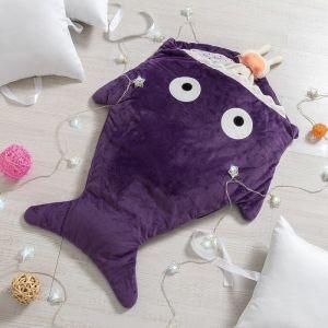 """Одеяло (конверт) для детей Крошка Я  """"Акула"""" цв.фиолетовый, 48*83 см, чехол п/э, подклад хл.   43572"""