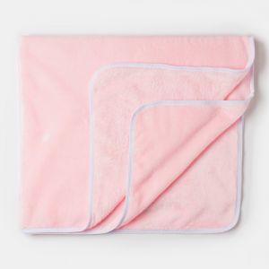 Плед детский нежно розовый 90х100см, велсофт 260г/м пэ100%   4562663