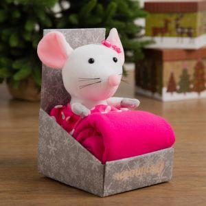 Плед с игрушкой Крошка Я «Мышка-девочка», цвет розовый, размер 75?100 см