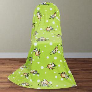 Покрывало АДЕЛЬ детское Мишка косолапый зел 100х140 см велсофт 280гр/м   4679691
