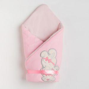 Конверт детский, цвет розовый, вязанный 4901037