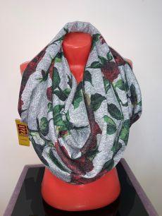 Кашемировый платок с розами, арт. 066