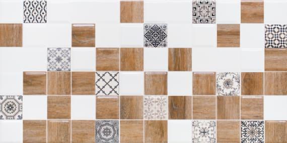 1041-0239 Настенная плитка декор 2 Астрид 20х40 белая