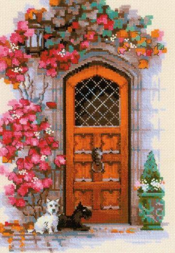 Набор для вышивания крестом Дверь в Шотландию №1832 фирма Риолис
