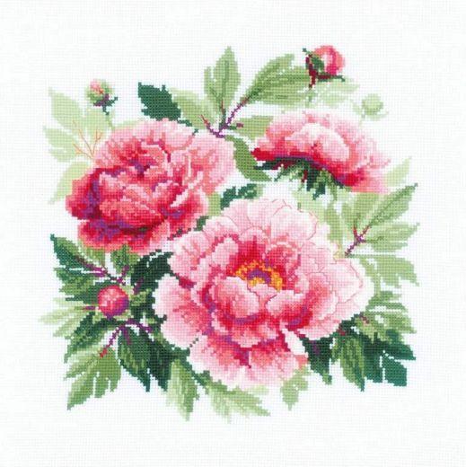 Набор для вышивания крестом Древовидный пион № 1854 фирма Риолис