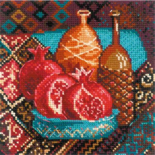 Набор для вышивания крестом Гранаты №1858 фирма Риолис