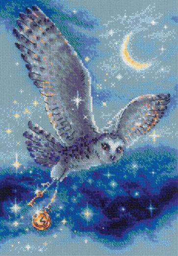 Набор для вышивания крестом Волшебная сова № 1872 фирма Риолис