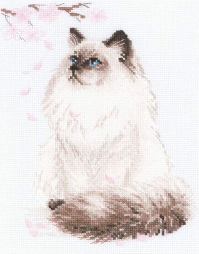 Набор для вышивания крестом Мяу-дзен №1878 фирма Риолис