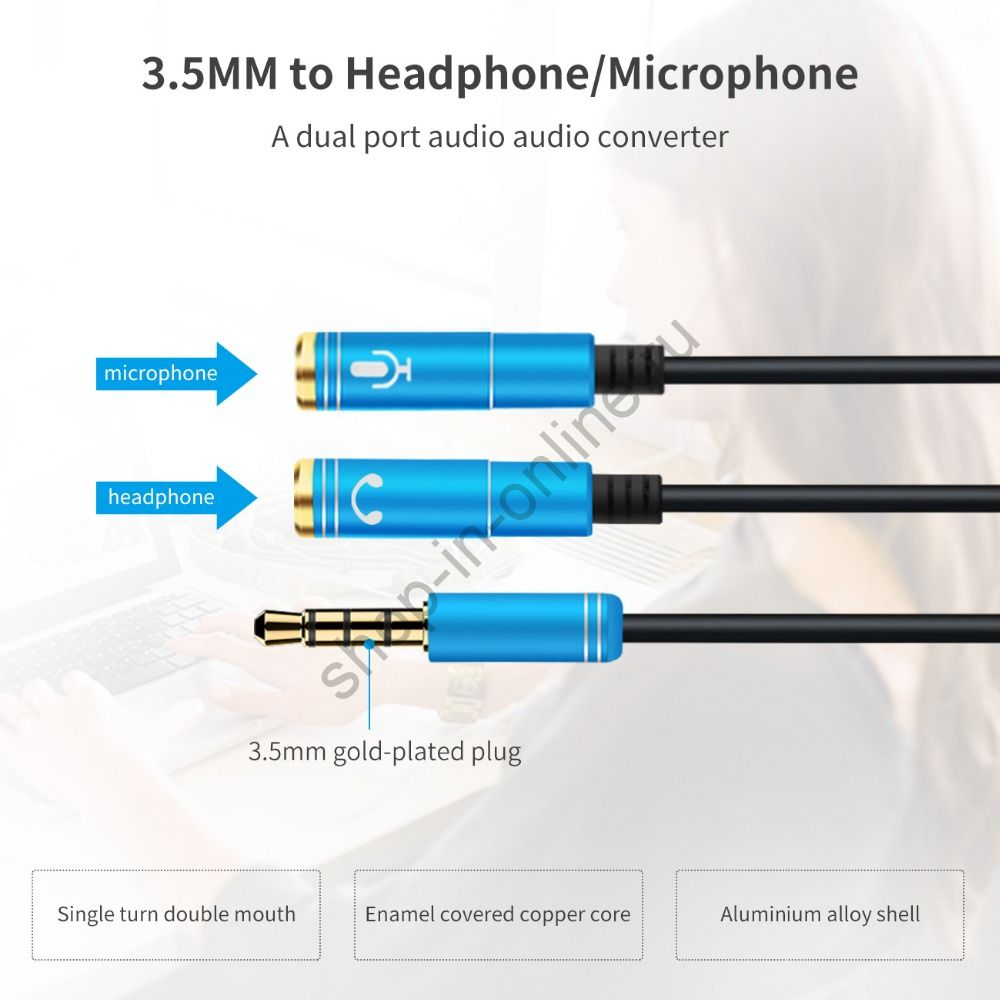 Адаптер микрофон + наушники