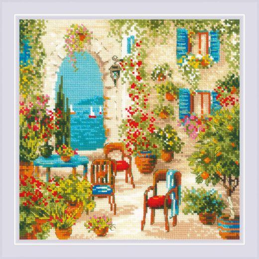 Набор для вышивания крестом Южный дворик №1863 фирма Риолис