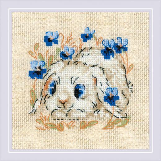 Набор для вышивания крестом Маленький зайка №1877 фирма Риолис