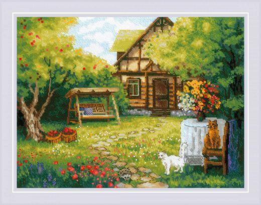 Набор для вышивания крестом Загородный домик №1845 фирма Риолис