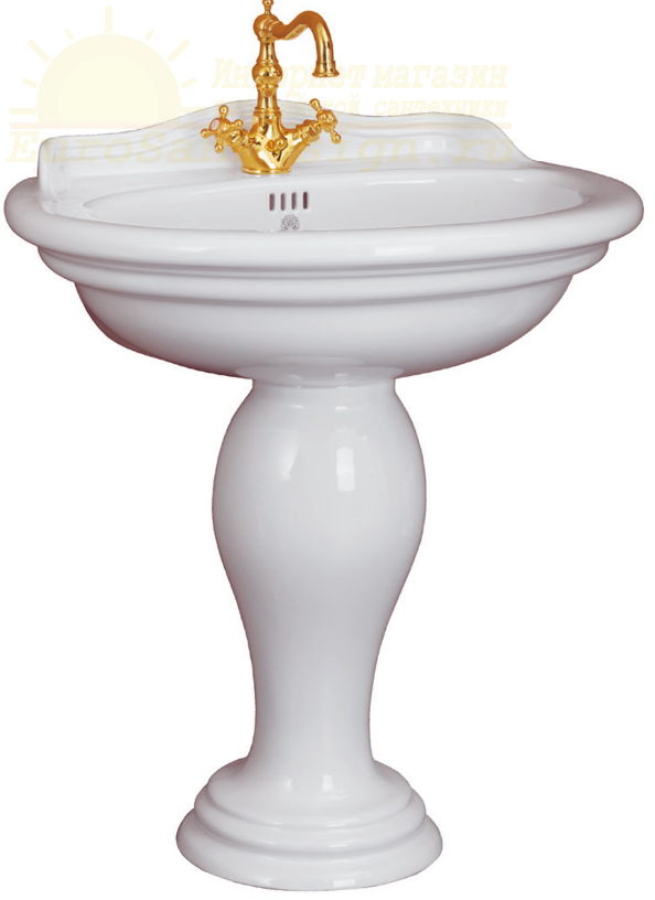 Migliore Milady раковина-тюльпан ML.MLD-25.773.BI 77x60,5 ФОТО