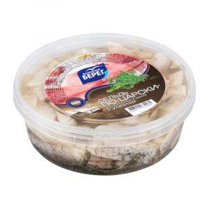 Сельдь филе-кусочки в масле с укропом 500 гр