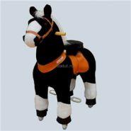 """Лошадка Ponycycle 3182 small """"Звёздочка"""" черный с белыми копытами"""