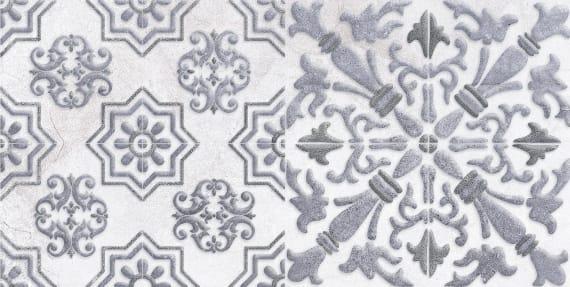 1641-0091 Настенная плитка декор1 Кампанилья 20x40 серый