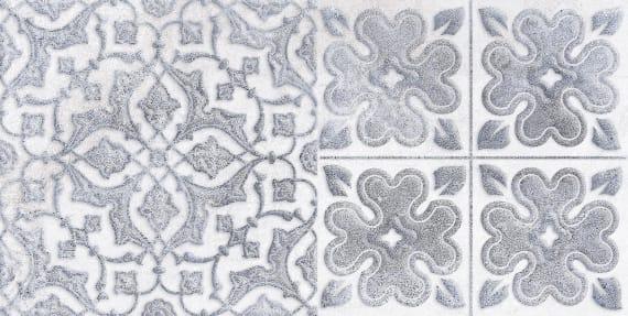 1641-0094 Настенная плитка декор2 Кампанилья 20x40 серый