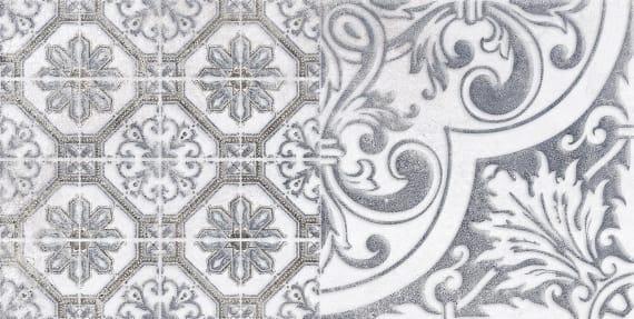 1641-0095 Настенная плитка декор3 Кампанилья 20x40 серый