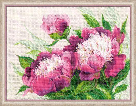 Набор для вышивания Riolis Premium Розовые пионы 100/039 фирма Риолис