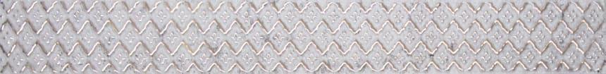 1504-0416 Бордюр настенный Каррарский мрамор и Лофт 4x45 мозаика