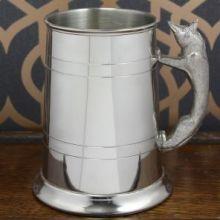 Кельтский Танкард -Ручка в виде лисы 1 Pint Pewter Tankard Fox Handle.