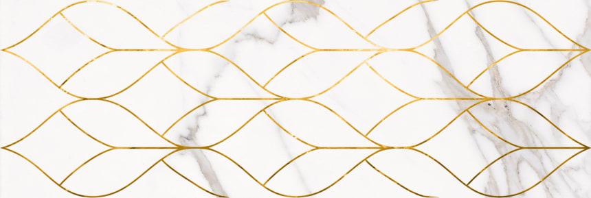 1664-0156 Настенная плитка декор Миланезе Дизайн 20х60 тресс каррара