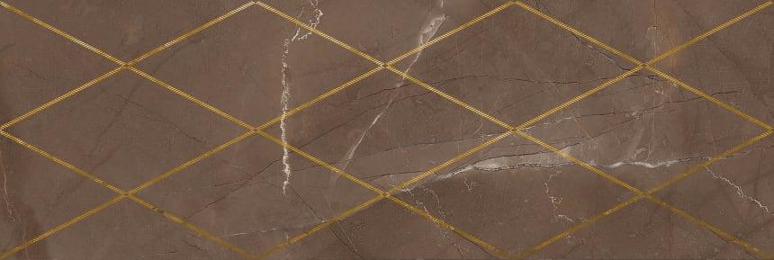1664-0147 Настенная плитка декор Миланезе Дизайн 20х60 римский марроне