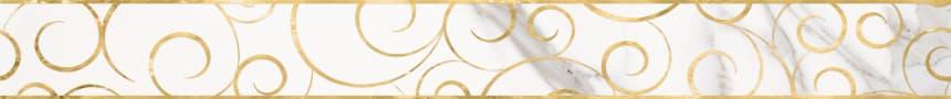 1506-0154 Бордюр настенный Миланезе Дизайн 6х60 флорал каррара