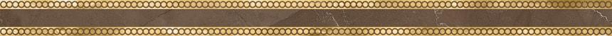 1506-0419 Бордюр настенный Миланезе Дизайн 3,6х60 римский марроне