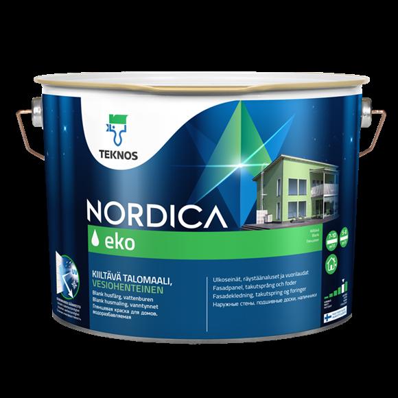 Краска для домов НОРДИКА ЭКО PM3 глянцевая 2,7л.