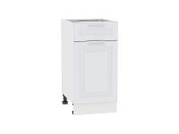 Шкаф нижний с 1-ой дверцей и ящиком Ницца Royal Н401 в цвете Blanco