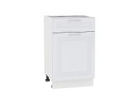 Шкаф нижний с 1-ой дверцей и ящиком Ницца Royal Н501 в цвете Blanco