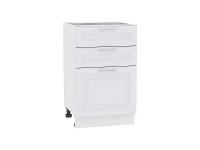 Шкаф нижний с 3-мя ящиками Ницца Royal Н503 в цвете Blanco