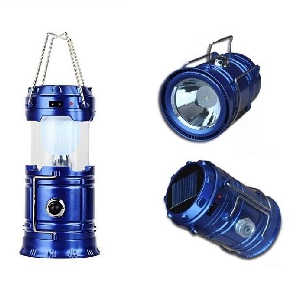 Складной Кемпинговый Фонарь 3-В-1, 14 См, Цвет Синий