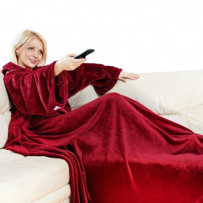 Одеяло-Плед С Рукавами Snuggie (Снагги), Цвет Бордовый