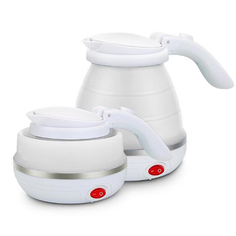 Складной чайник силиконовый электрический Collapsible Silicone, 600 мл, цвет Белый