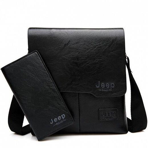 Набор сумка и портмоне Jeep Buluo, Цвет: Чёрный