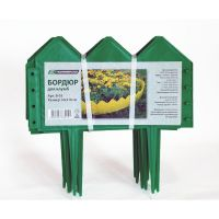 Бордюр для клумб 14х310 см 13 секций (цвет зелёный)_1
