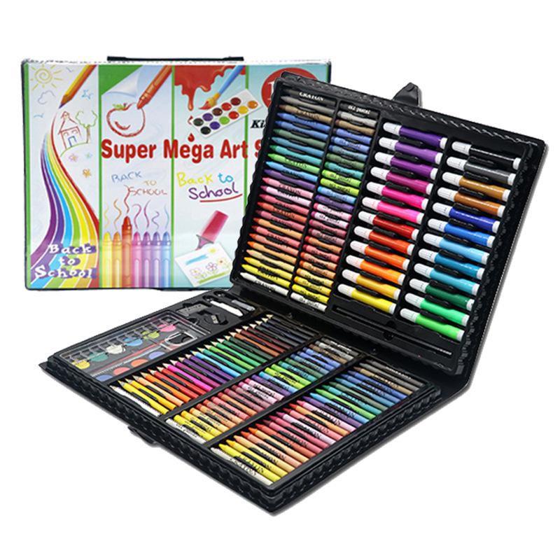 Набор для рисования в чемодане Super Mega Art Set 168 предметов (цвет черный)