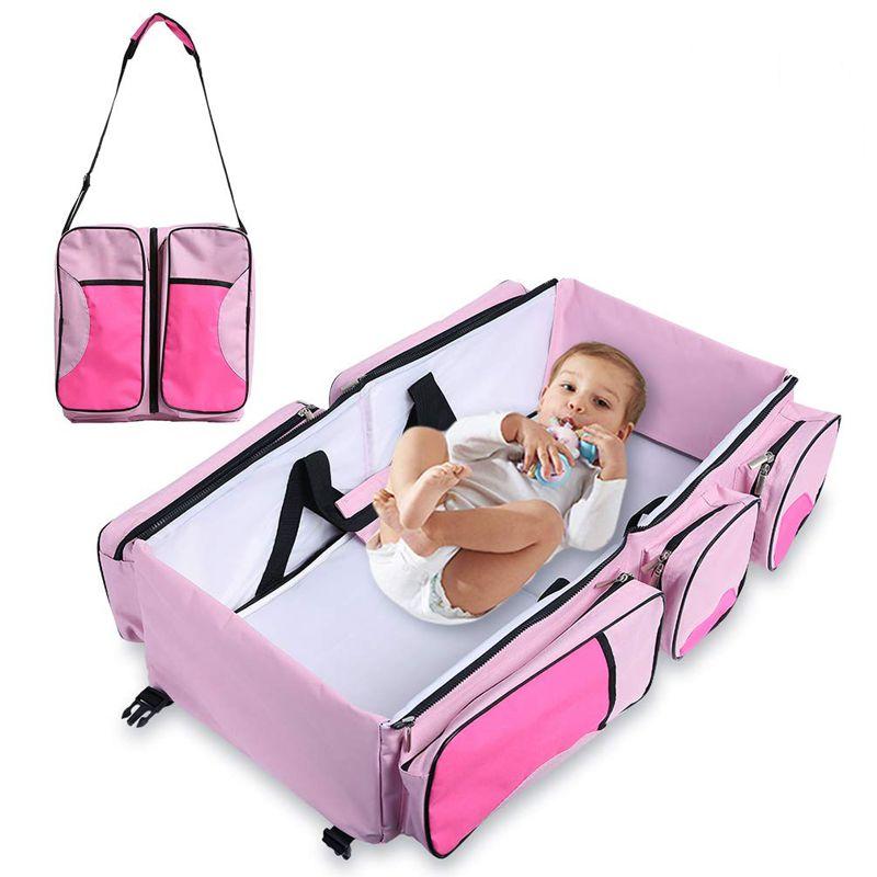 Сумка-Люлька Трансформер 2 В 1 Baby, Цвет Розовый