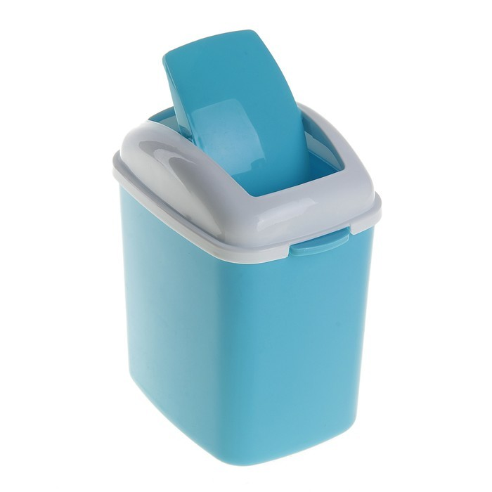 Контейнер для мусора настольный SHUANG HONG 13х11х23 см (цвет голубой)