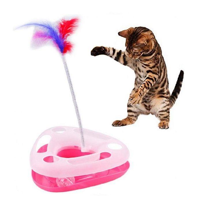 Треугольный Трек-Игрушка Для Кошек Happy Circle, Цвет Розовый