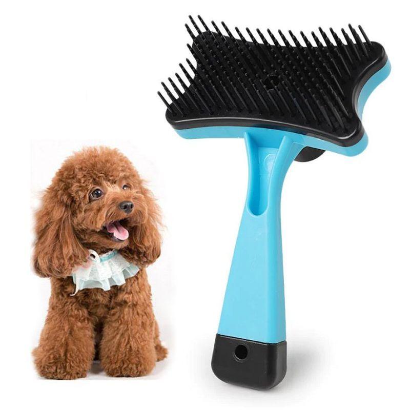 Самоочищающаяся Щётка Для Животных Pet Grooming, Цвет Голубой
