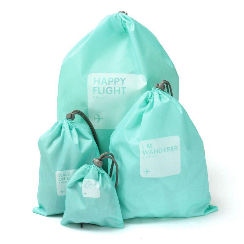 Водонепроницаемые Мешочки Для Одежды Happy Flight Cplay, 4 Шт, Цвет Голубой