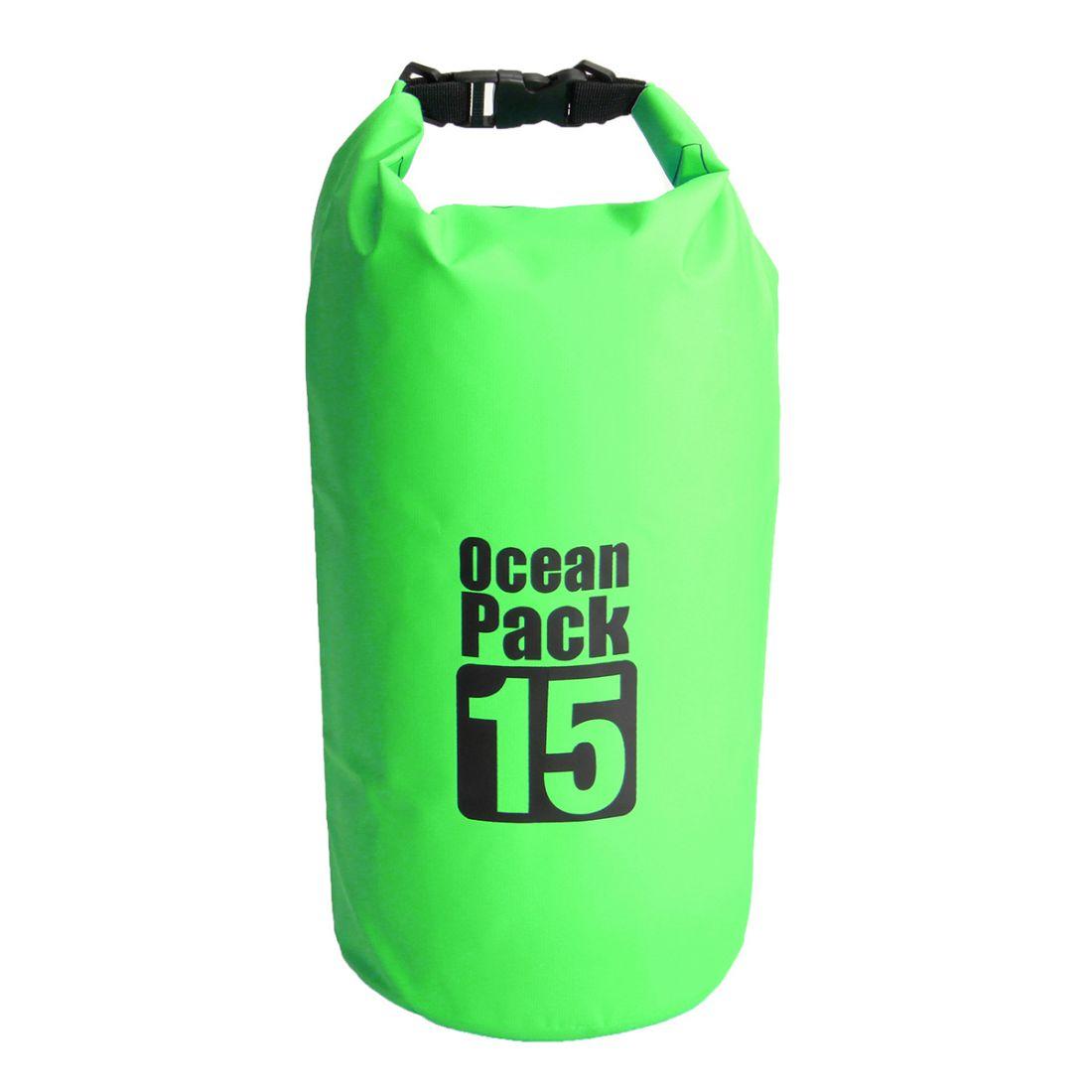 Водонепроницаемая Сумка-Мешок Ocean Pack, 15 L, Цвет Зеленый